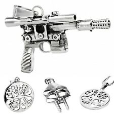 Punk Gothic Stainless Steel Pendant Charms  Knight's Mask Sniper rifle Sun Tree