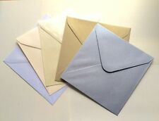 """6 x 6"""" Pearlescent/Shimmer Envelopes (155 x 155mm) Packs of 25 (Various Colours)"""