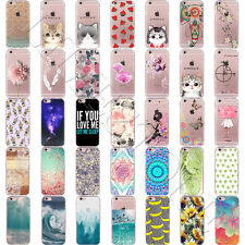 Patterned Soft Silicone TPU Transparent Back Case Cover For iPhone 6 5 SE 7 Plus