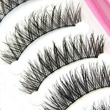 10 Pairs Long Black Natural False Eye Makeup Cosmetic Tool Eyelashes Lashes Full