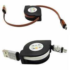 3ft Retractable Fast Micro USB Data&Sync Charger Charging Cable For Cell Phone