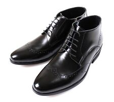MOODA Men Ankle Boots Leather Shoes Oxfords Dress Formal Brogues Black Brown