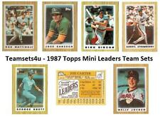 1987 Topps Mini Leaders Baseball Set  ** Pick Your Team **