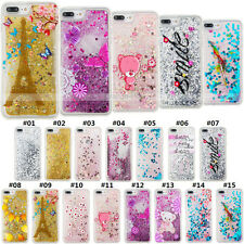 For Apple iPhone Painted TPU Shell Silicone Liquid Protective Glitter Case Cover