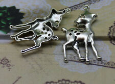 wholesale 3/15pcs Delicate and lovely Tibetan silver cub sika deer charm pendant
