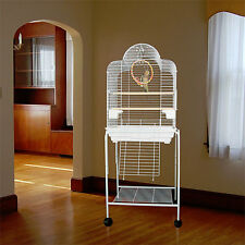 """Manoa Mansion Dometop Bird Cage - 21""""W x 16""""D x 56""""H - With Stand or Without"""
