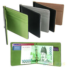 Ultra-Thin Magic Money Clip Faux Leather Card Holder Bifold Mini Wallet Glitzy