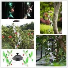 Solar Color Changing LED Bird Wind Chimes Windchime Light Garden Decor -3 Types