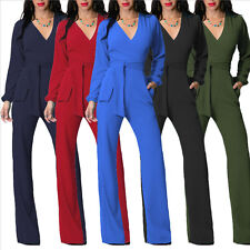 Sexy Womens Bohemia Party V Neck Long Pants Wide Leg Clubwear Romper Jumpsuits