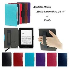 Slim Leather Skin Smart Magnetic Case Cover for Amazon Kindle/Kindle Paperwhite