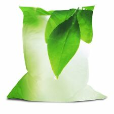 Best Soft Cozy Comfortable Pillow Style Bean Bag Chair with Printed Green Leaf