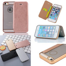 For Apple IPhone 6/6S Plus PU Leather Credit Card Holder Wallet Flip Case Cover