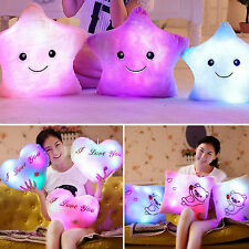Romantic LED Light Up Glowing Pillow Dolls Cosy Cushion Star/Square/Heart Shape