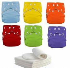 New 10pcs+ 10INSERTS Adjustable Reusable Lot Baby Washable Cloth Diaper Nappies