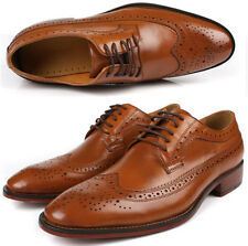 Leather Brogue Business Dress Formal Shoes Oxfords Casual Shoes Mens Lace up