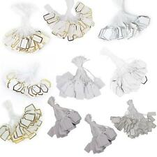 500x Quality Strung Tags Reinforced Rings Luggage Labels String Tie On Gift