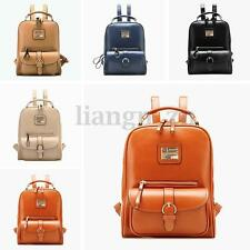 Women PU Leather Backpack Travel Rucksack School Shoulder Bag Satchel Bookbag AU