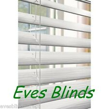 Made to measure Faux wood white or cream Plastic venetian blinds 50mm Slats