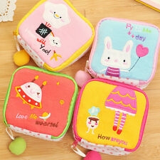 Cartoon Sanitary Napkin Towel Pads Key Small Zip Bag Purse Holder Organizer Kids