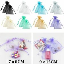50Pcs Sheer Organza Wedding Party Favor Gift Candy Bags Jewelry Birthday Pouches
