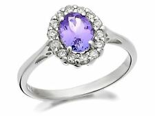 Kilimanjaro Womens Jewellery 9ct White Gold Diamond Tanzanite Engagement Ring
