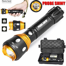 6000lm Super Bright XM-L T6 LED Adjustable Focus Flashlight Torch Zoomable Lamps
