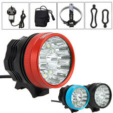 40000 Lm 14x XML T6 LED 3 Modes Bicycle Lamp Bike Light Headlight 12000mAh Torch