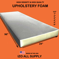 "Density Seat Foam Cushion Replacement Upholstery Foam Per Sheet 24"" x 96"""
