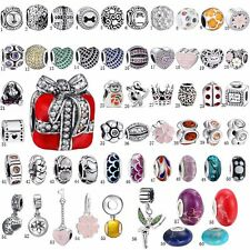 Silver Charm Collections Beads Pandent dangle FIT S925 Bangle Bracelets Chain c