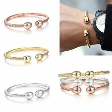 1PC Beauty Twist Steel Wire Stainless Steel Bracelet Open Bangle Cuff Lover Gift