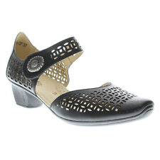 Spring Step Women's Macaw Casual Leather Mary Jane Pump Shoes Black