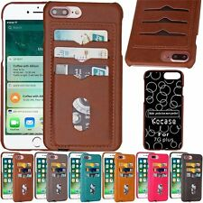 Luxury Ultra Slim PU Leather Wallet Card Back Case Cover For iPhone 6 6S 7 Plus