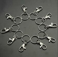 10/20 Clasps Clips Finding Key Ring Charm Bag Hooks Swivel Trigger Lobster Snap