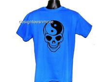 SKULL YIN YANG SKELETON DESIGN TEE T SHIRT T-SHIRT S M L XL 2XL 3XL 9 COLORS NEW