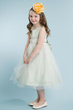 New Satin Tulle Flower Girl Dress Easter Christmas Party Graduation Pageant 208