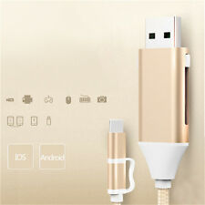 Multifunction Micro USB OTG Data Power Charger Cable For iPhone & Android Phone