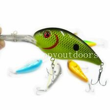 1pcs Crankbait Fishing Lures Crank Bait Freshwater Minnow Bass Pike Fish Tackle