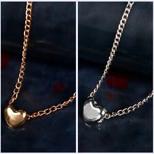 Women Fashion Lovely Gift Tiny Little Heart Love Gold Silver Pendant Necklace HW