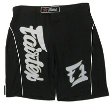 FAIRTEX MMA BOARDSHORTS - AB9- BLACK - 100% POLYESTER-GREAT FOR ALL SPORT/CASUAL