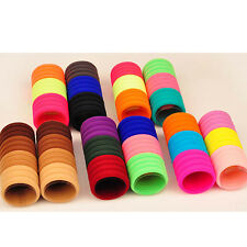 Women Lot Color Girl Elastic Hair Accessories Ties Band Rope Ponytail Bracelets