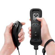 UK Ship Built in Motion Plus Inside Remote & Nunchuck Controller For Wii + Case