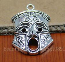3/30pcsThe surprised face the mask of style restoring ancient ways charm pendant
