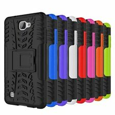 Rugged Rubber Hybrid Armor Shockproof Hard Case Stand Cover For LG X Max K240