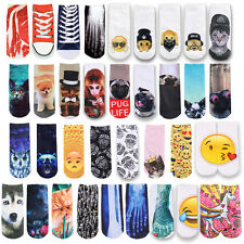 Unisex Men Womens 3D Fashion Printed Cute Animal Casual Socks Low Cut Ankle Sock