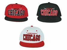 NEW CHICAGO BULLS SNAPBACK EMBROIDERED HAT CAP ADJUSTABLE NBA BASKETBALL