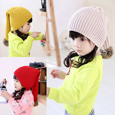 Lovely Toddler Hat Kids Girls Baby Infant Winter Warm Crochet Knit Hat Cap 2-8T