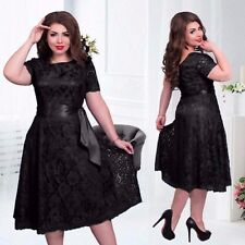 Cocktail Party Evening Clubwear Dress Sexy Womens Bodycon Lace Dresses Plus Size