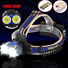 2X XML T6 Headlamp 10000Lm Headlight Rechargeable Head Torches AAA/AA/18650 Lamp