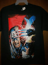 New Marvel Captain America vs Wolverine body design Graphic TShirt NWT Lage