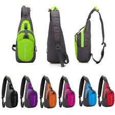 Waterproof Shoulder Sling Chest Bag Running Hiking Cycling Crossbody Backpack